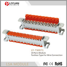 LY-TM071 10 Pairs Module Toolless Type For Wire Connection
