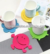 Factory price OEM design printed clear plastic PP/silicon cup mat/coaster
