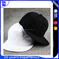 wholesale free100% cotton 3d embroidery 5 panel hat