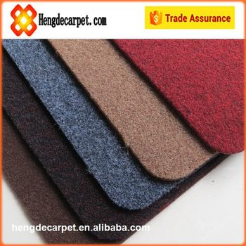 new product door mat polyester,pvc logo mat with tpr backing from china supplier