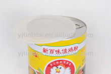 Easy open lid's tin box for powder