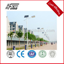 double arm solar street light and steel lamp pole