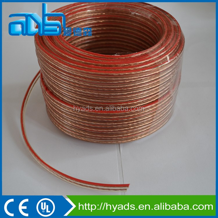 2016 China manufacturer Red black OFC flat ribbon speaker cable wire
