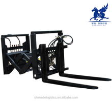 Forklift attachment load extender for railway wagon and lorry