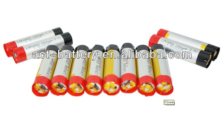 e cigarette variable voltage battery lipo battery 3.7V 16600 E-Cig Big Battery