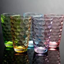 220ml Color polka dot glass tumblers 6pcs glass cup set water /juice/drinking cups