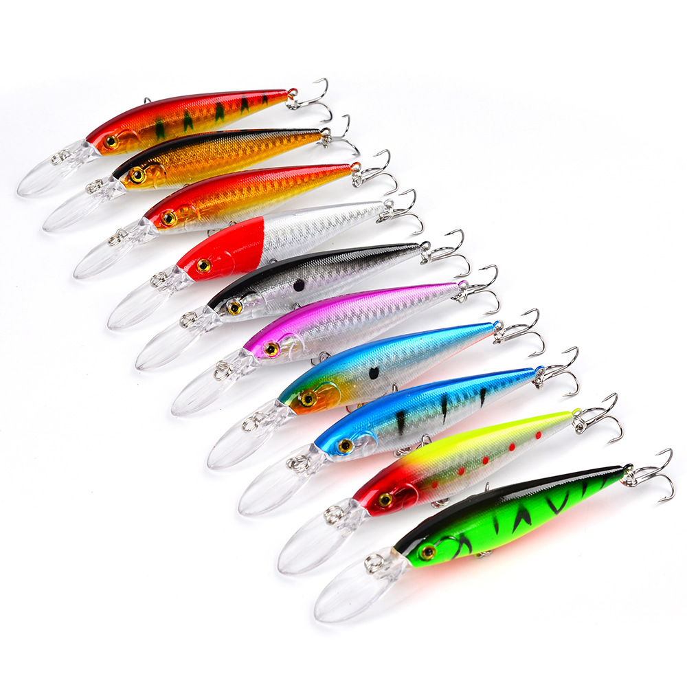 11.5 cm 10.5g 10 colours Hot sale Hard Plastic Floating Minnow Fishing Lures,Long tongue Artificial Fishing Bait