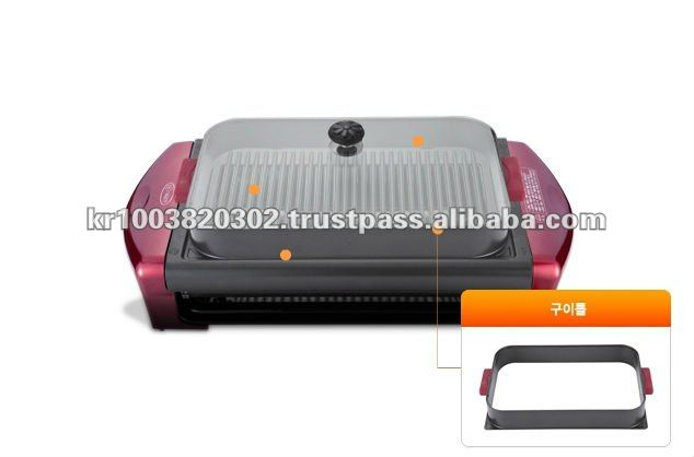 Electric rotating BBQ grill and ceramic grill machine for chicken, roast etc.