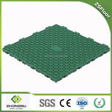 ZSFloor multi sport tennis/ badminton/ basketball/volleyball court flooring pp interlocking tile