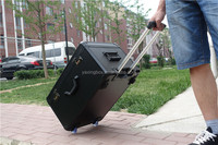sales salesman aluminum rolling wheeled trolley case sample carrying case
