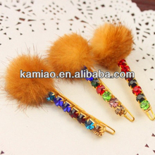 2015 hair accessory rainbow color clip in hair extension hair pinch clips