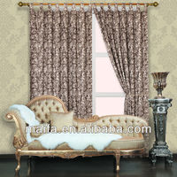 2012 Latest Design For Jacquard Rod pocket Curtain (les panneaux de draperie de lin)