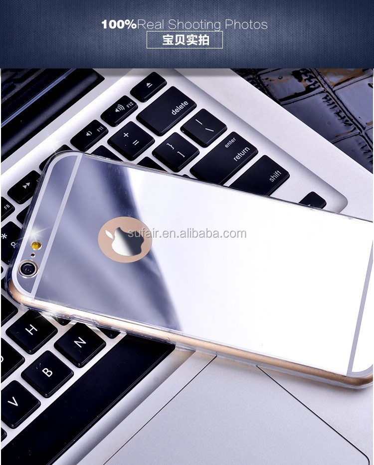New Arrival Luxury Aluminum Metal Bumper PC Back Cover Mirror Cell Phone Case for iPhone 7