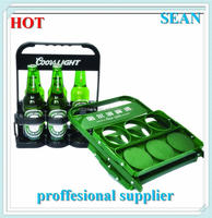 Floating plastic inflatable drink bottle holder