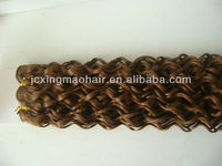 8A Grade 24 Inch Indian Remy Curl Hair Weave 100% Genuine Human Best Selling Products In Nigeria Made In p.r.c.