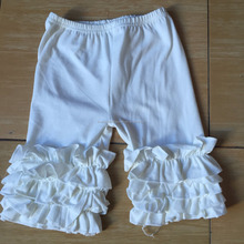 High quality short icing legging lovely children's cotton baby icing ruffle short&capris&pants