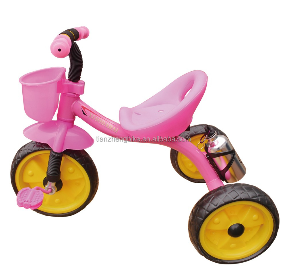 2016 year colorful style of new arrival baby tricycle with bottle/child tricycle with EVA tire