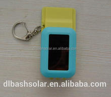 Solar power flashing USB keychain usb keychain charger mini battery charger