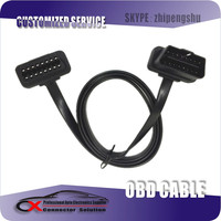 OBD2 OBDii 16P Male to Female Extension Cable Flat Cable
