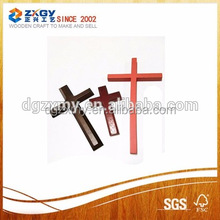 Unfinished Natural Small Wooden Crosses With Painting