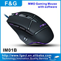 OEM gaming mouse with detachable switch and weight adjustment