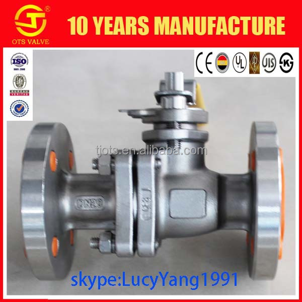 QV-LY-015 SS304 SS316 stainless steel ball valve with ptfe bearing