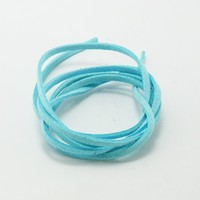 Wholesale 3MM Velvet cord 100pcs/lot Turquoise Jewelry Cord Craft Jewelry Making DH-FXU001-44