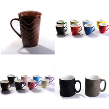 wholesale cheap and high quality v-shaped ceramic coffee mugs fancy ceramic garden table set cups and mugs