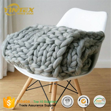 Super Soft Beatuiful Giant Yarn Throw Blanket Chunky 100 Wool Knit Blanket