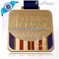 Customized Jujitsu/Judo Medal/Medallion in Gold Finish
