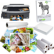 premium quality kertas foto roll/rc photo paper glossy finish used for digital printing
