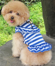 Wholesale pet dogs striped dresses ,pretty dogs cool summer clothes