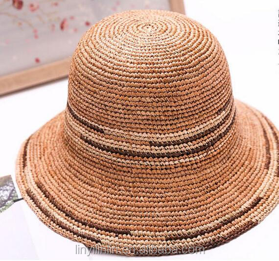 Best quality handmade crochet floppy summer straw hats for women
