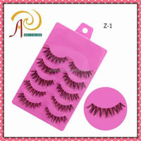 Good quality Cheap price Hand made Z-1 False crisscross thick Strip Eyelash
