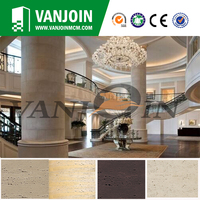 Acid Resistant Outdoor External Culture Stone Travertine Exterior Wall Tile