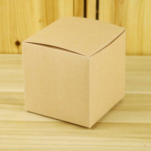 10x10x10cm square cookies candy gift paper box for kraft paper
