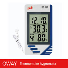 Intelligent table humidity temperature meter with clock