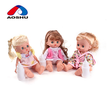 10 inch vinyl electronic baby love dolls with milk bottles