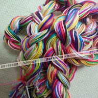 China multi colors 100% cotton Royal thread 1.3m 26s DMC color manual hand rop floss bracelets thread