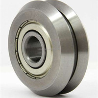 "RM2-2Z ZZ 3/8"" V-Groove Guide Bearing Metal Shield Ball Bearing"