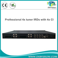 Professional 4x tuner to TS hd digital satellite receiver IRDs with 4x CI