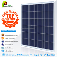 100w 12v Powerwell Solar poly solar panel A grade competitive price with CEC/IEC/TUV/ISO/INMETR certifications