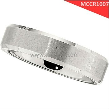 Satin Finish cobalt chrome molybdenum rings, platinum color
