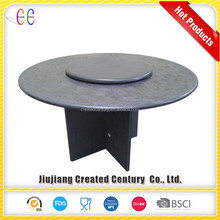 Decorative outdoor garden black slate table with high quality