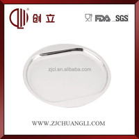 Round stainless steel serving trays wholesale