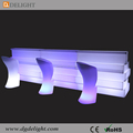 2017 Popular Glowing Bar Counter PE Plastic Battery Operated LED Portable Bar Counter