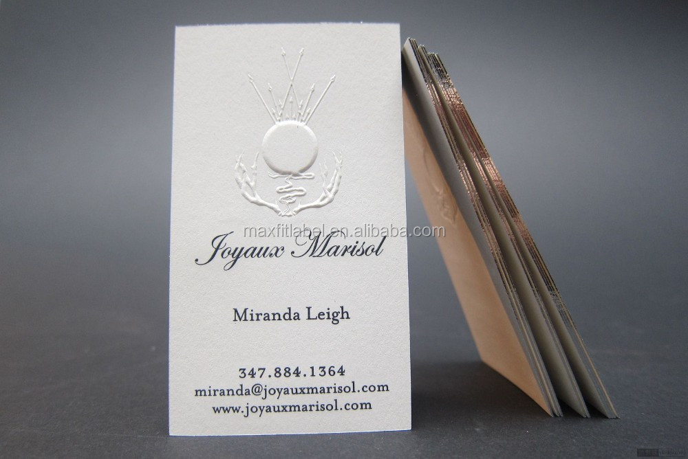 Colorful business cards with hot stamping gold foil logo