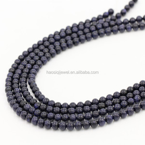 High quality Exw price natural blue sand stone beads for jewelry making
