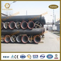 Ductile Iron Pipe K9 for standard ISO 2531 and EN545 with SGS Certification for Specification DN80mm-DN2600mm for C25,C30,C40 K9