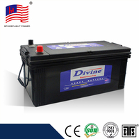 Divine Good quality N150 maintenance free chinese factory car battery 12v 150ah